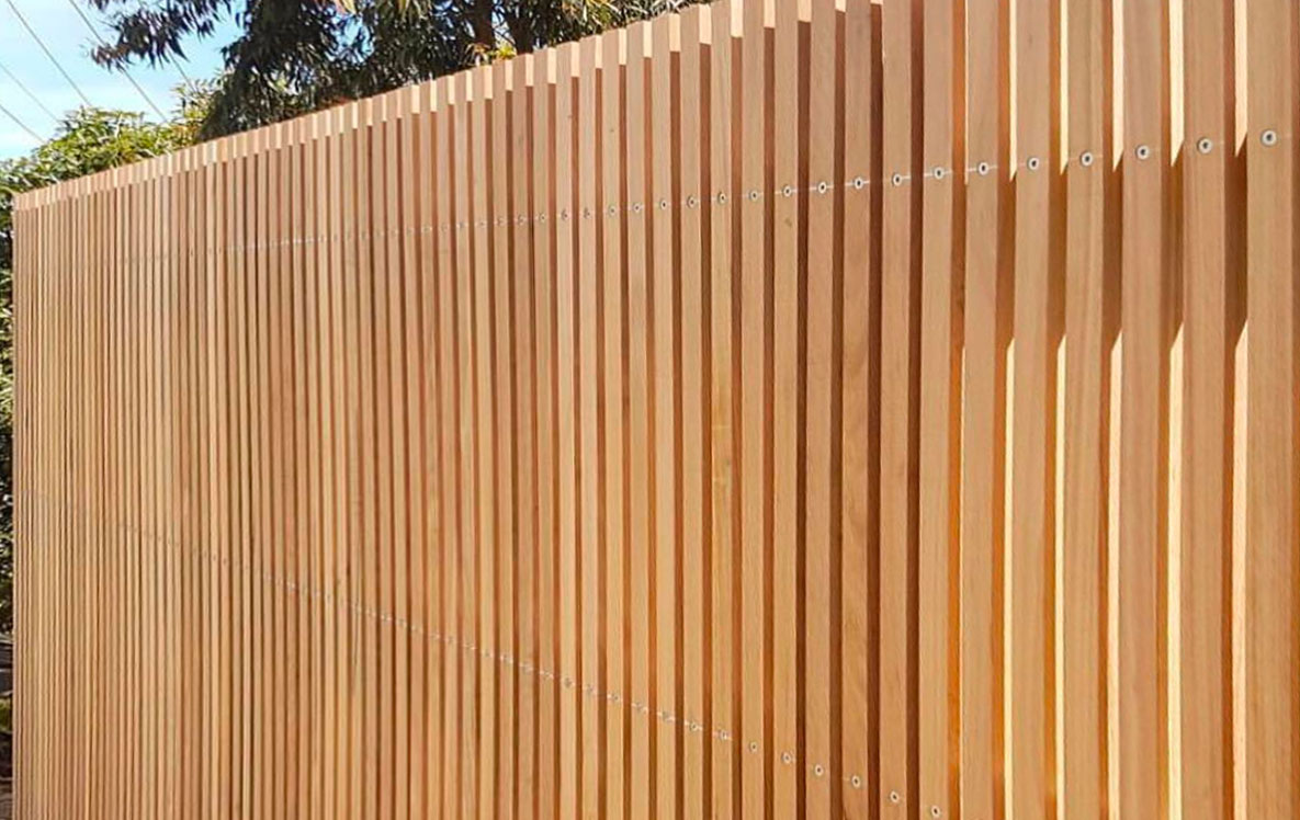 A vertical timber batten fence in Sydney is a solution to create privacy, safety, for your home